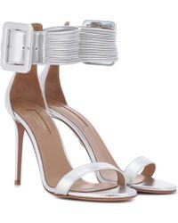 Aquazzura - Casablanca 105 Leather Sandals - Lyst