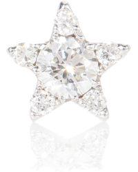 Maria Tash Orecchino singolo Diamond Star in oro bianco 18kt con diamanti