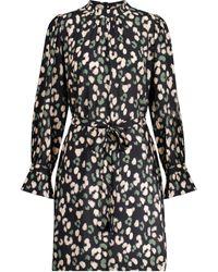 Velvet Gertrude Leopard-print Minidress - Black