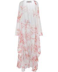 Valentino Exclusive To Mytheresa – Printed Cotton Kaftan - White