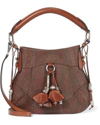 Etro Paisely Cotton-blend Crossbody Bag - Brown