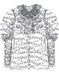 Rodarte - Verzierte Bluse aus Tüll - Lyst