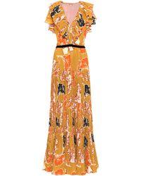 Johanna Ortiz Golden Blossom Maxi Dress - Yellow