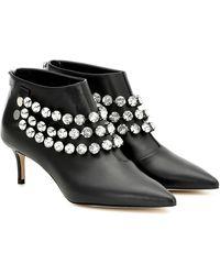 Christopher Kane Giant Crystal Ankle Boot - Black