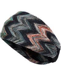Missoni Strick-Haarband mit Zick-Zack-Muster - Mehrfarbig