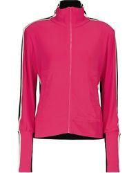 Norma Kamali Veste de survêtement en jersey extensible - Rose