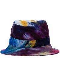 Gabriela Hearst Sombrero de pescador de cachemir - Azul