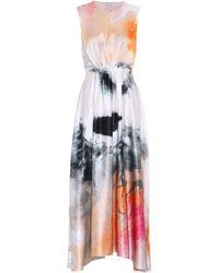 ROKSANDA Abito lungo Nysa a stampa in seta - Multicolore