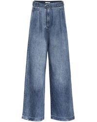 Tibi Stella High-rise Wide-leg Jeans - Blue