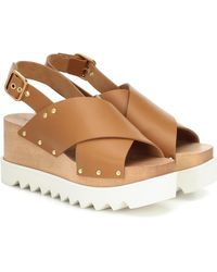 Stella McCartney Elyse Platform Sandals - Brown
