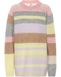 Acne Studios Kalbah Striped Knitted Sweater - Multicolour