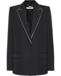 Givenchy Blazer con detalles en la solapa - Negro