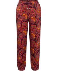 Etro Pantalones de chándal de algodón - Rojo