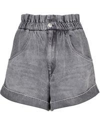 Étoile Isabel Marant Shorts vaqueros paperbag Itea - Gris