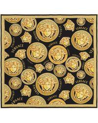 Versace Tuch Medusa aus Seiden-Twill - Mettallic