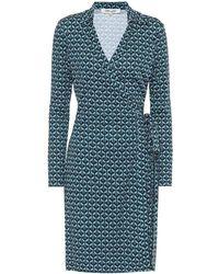 Diane von Furstenberg Abito a portafoglio Jeanne Two a stampa in seta - Blu