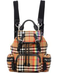 a28c89ec8d5c Burberry - The Rucksack Small Check Backpack - Lyst