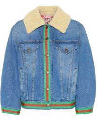 huge discount 7c7e8 89adc Giacche di jeans da donna di Gucci - Lyst