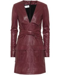 Victoria, Victoria Beckham - Leather Minidress - Lyst