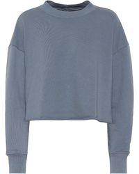 J Brand Wendy Cotton-jersey Sweatshirt - Blue