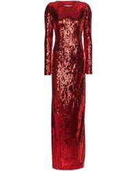 Galvan London Exclusivité Mytheresa – Robe longue à sequins - Rouge