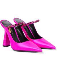 Versace Mules Artifact aus Satin - Pink