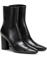 Balenciaga Oval Leather Ankle Boots - Black