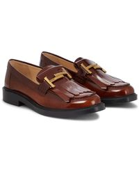 Tod's Loafers Double T aus Leder - Braun