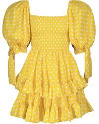 Caroline Constas Minikleid Finley aus Popeline - Gelb