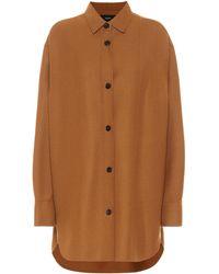 JOSEPH Judi Stretch-wool Twill Shirt - Brown