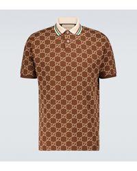 Gucci Poloshirt mit Logo - Braun