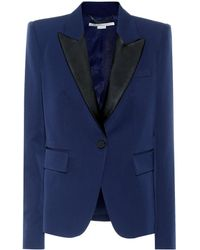 Stella McCartney Blazer esmoquin de lana - Azul