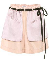 Valentino Shorts in seta e satin - Rosa