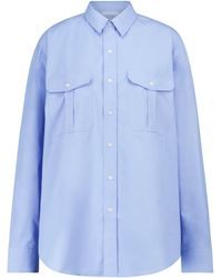 WARDROBE.NYC Camisa de algodón - Azul