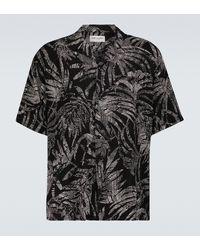 Saint Laurent Chemise à manches courtes à imprimé - Noir