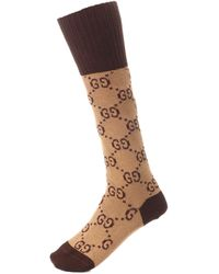 Gucci Socken aus einem Baumwollgemisch - Braun