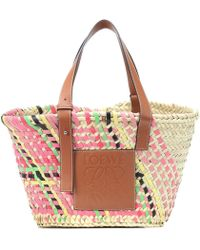 Loewe Exclusive To Mytheresa – Leather-trimmed Basket Tote - Multicolour