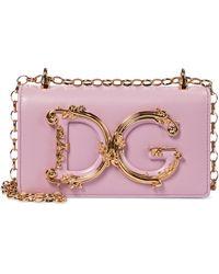 Dolce & Gabbana Schultertasche DG Girls Small - Pink
