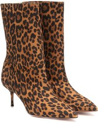 Aquazzura Very Boogie 60 Suede Ankle Boots - Brown