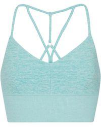 Alo Yoga Sport-BH Alosoft Lavish - Blau