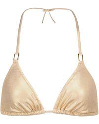 Melissa Odabash Exclusive To Mytheresa – Cancun Bikini Top - Metallic