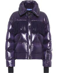 Moncler Genius 3 Moncler Grenoble Fringed Down Jacket - Purple