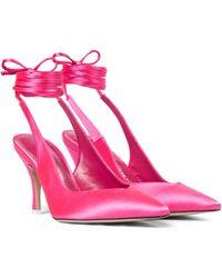 The Attico Slingback-Pumps Venus aus Satin - Pink