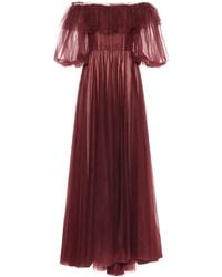 Valentino Off-the-shoulder Tulle Gown - Red