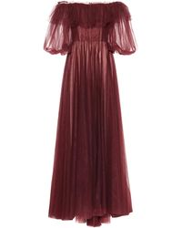 Valentino Tulle Evening Dress With Poetry Detailing - Multicolour