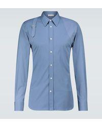 Alexander McQueen Camisa Harness de algodón - Azul