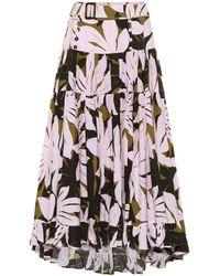 Alexandra Miro Penelope Printed Cotton Midi Skirt - Multicolour