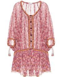 Poupette - Bobo Printed Cotton Minidress - Lyst