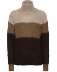Golden Goose Deluxe Brand Yangi Stripe Mohair Turtleneck Sweater - Brown