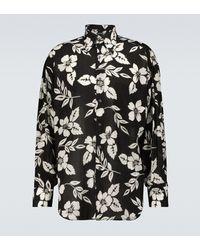 Tom Ford Camisa oversized floral - Negro